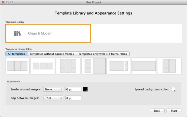 SmartAlbums Template  Appearance Settings