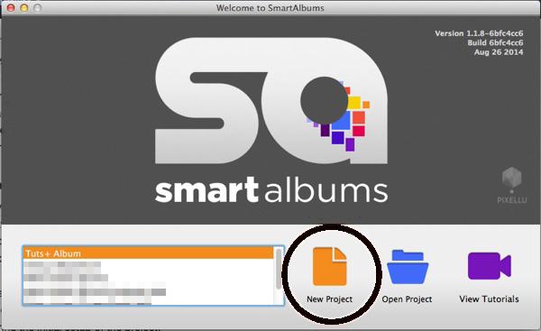 SmartAlbums Startup Window