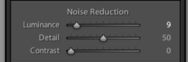 Luminance Noise Controls
