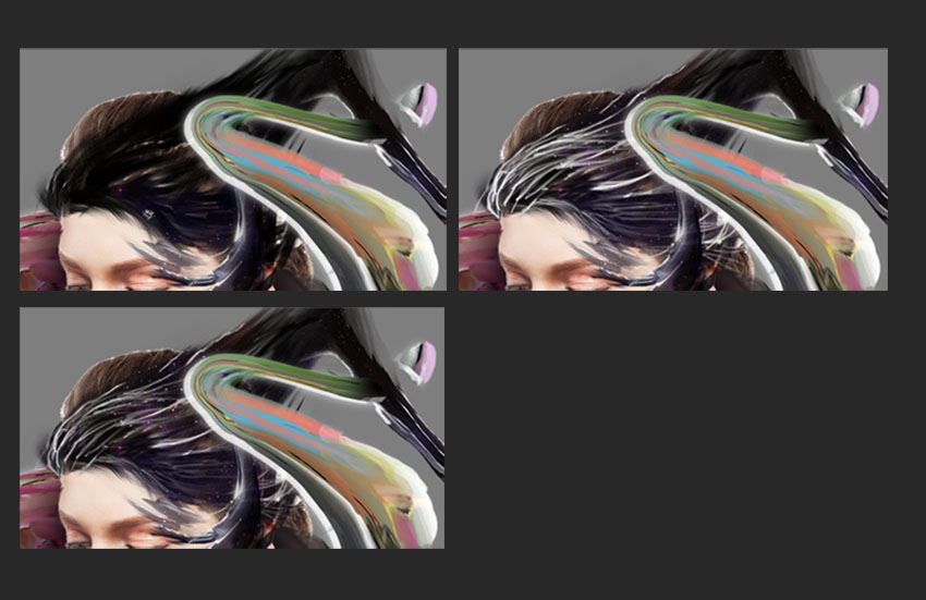 Adding more details with brush tool to overlay the brown hair of the focal