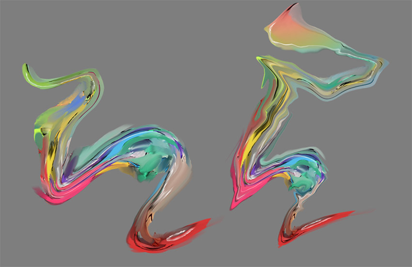 Variations from the same element by simply using liquify
