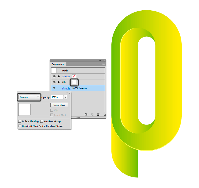Applying a Overlay in the bezel of outer ring