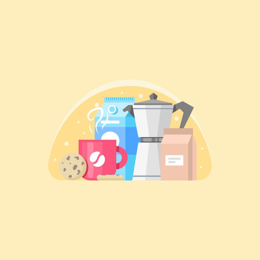 Coffee and Cookie Illustration Adobe Illustrator Tutorial