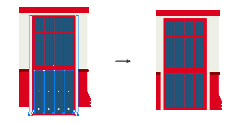 Duplicating the door