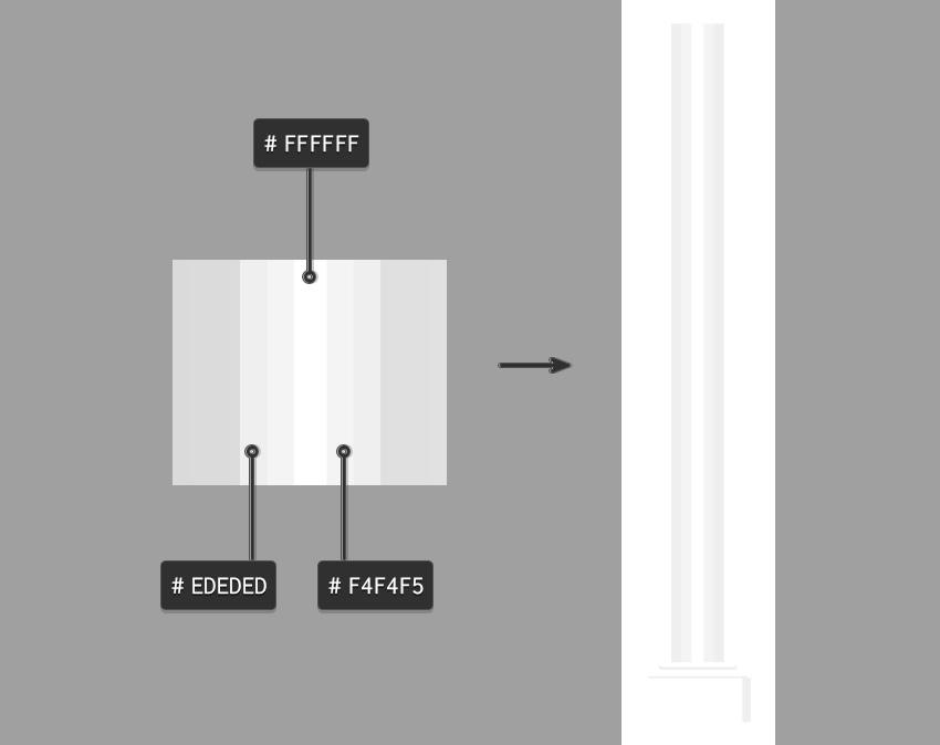 Buat persegi panjang pilar