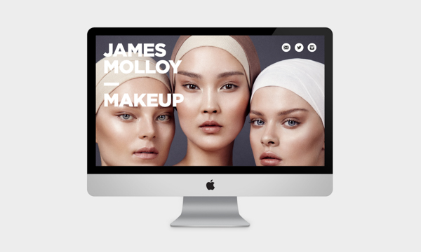 James Mollow Makeup website