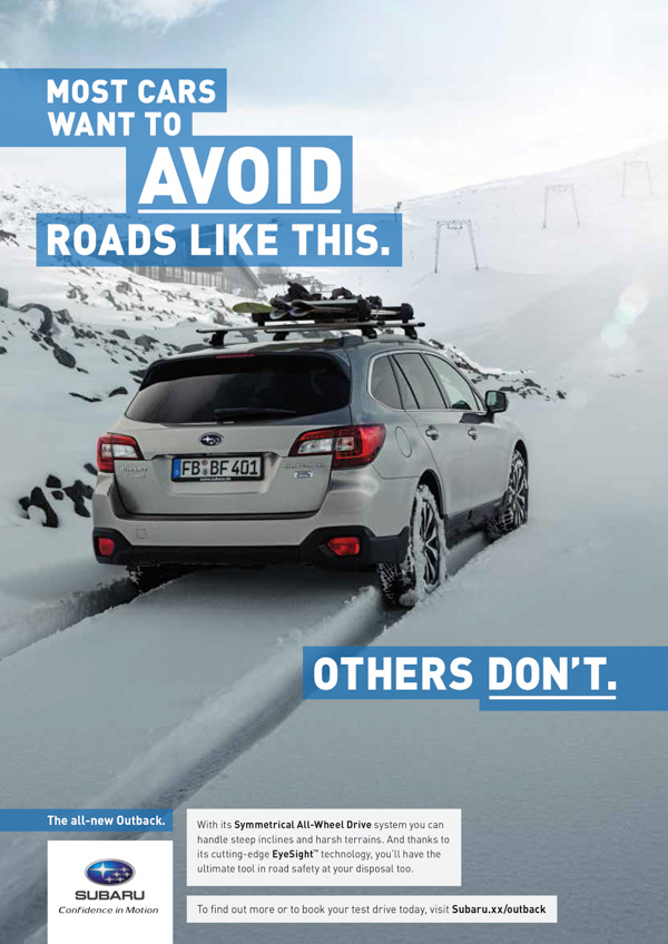 Subaru advertisement