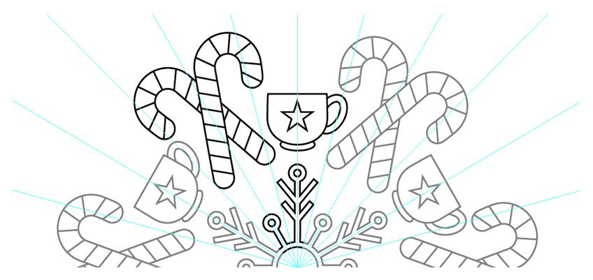 exit symbol editing mode to view your mandala again