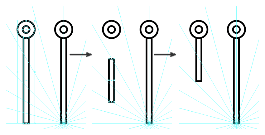 create the second segment of the snowflake