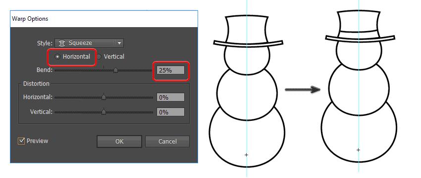 create the snowmans hat