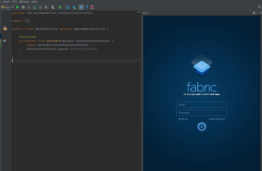 Final Fabric integration with Android studio