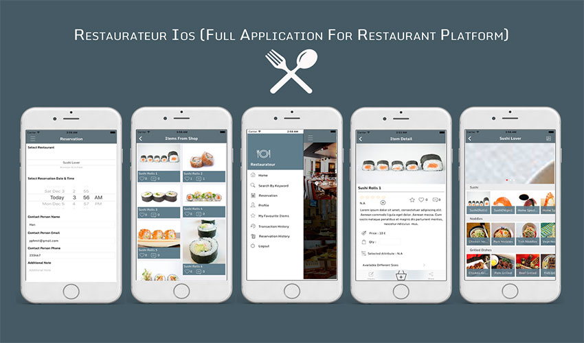 Best restaurant app templates