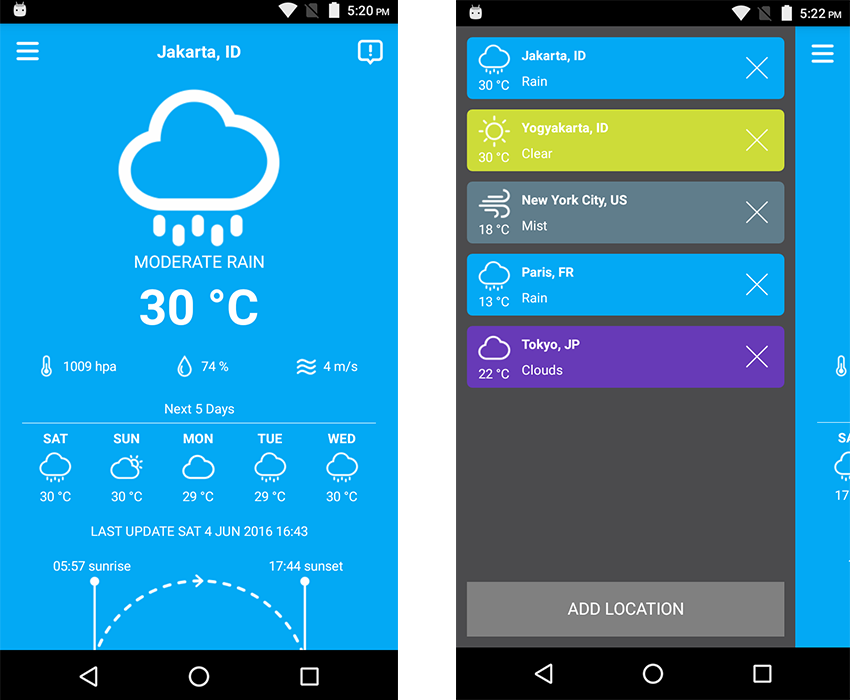 10 best weather app templates