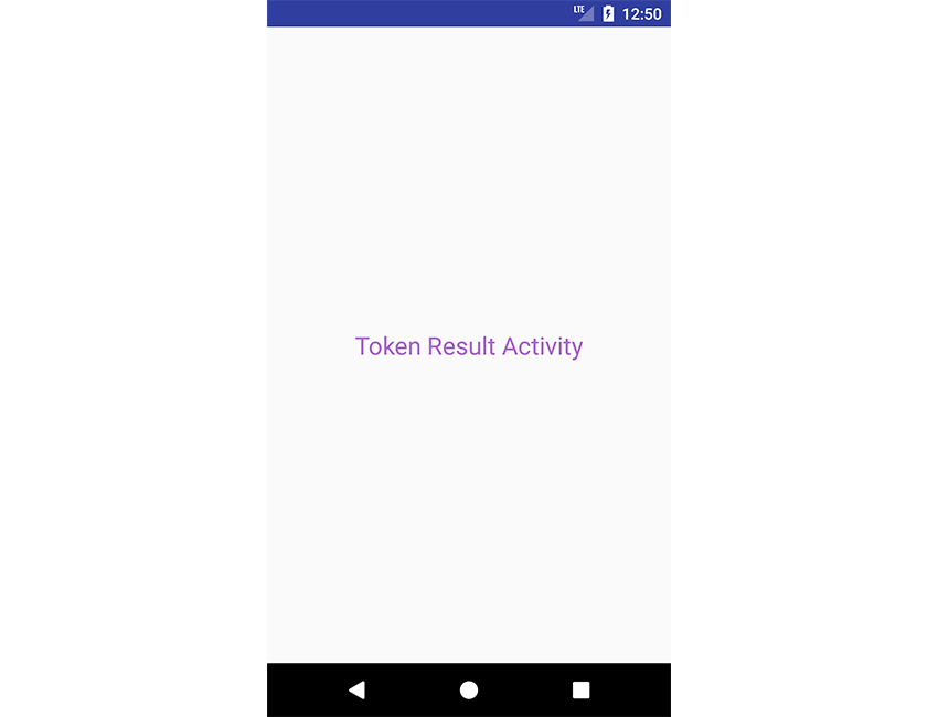 Token result activity