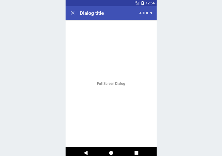 Showing Material Design Dialogs in an Android App