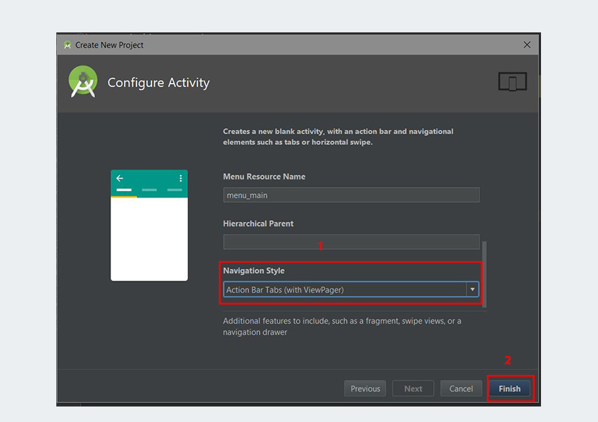 Configure Activity dialog