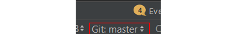 Git master drop-down menu