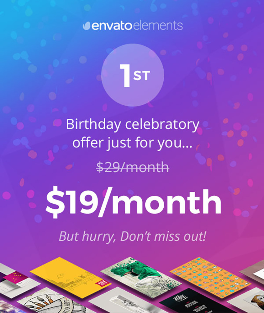Today Only: Join Envato Elements for Just $19!