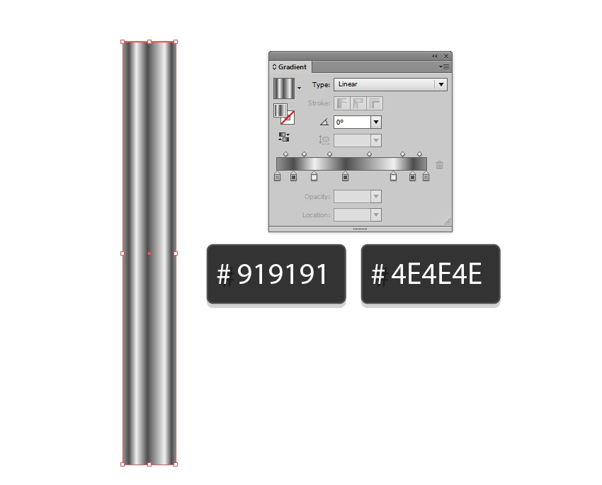 alternate 919191 4E4E4E and white to create a metal effect