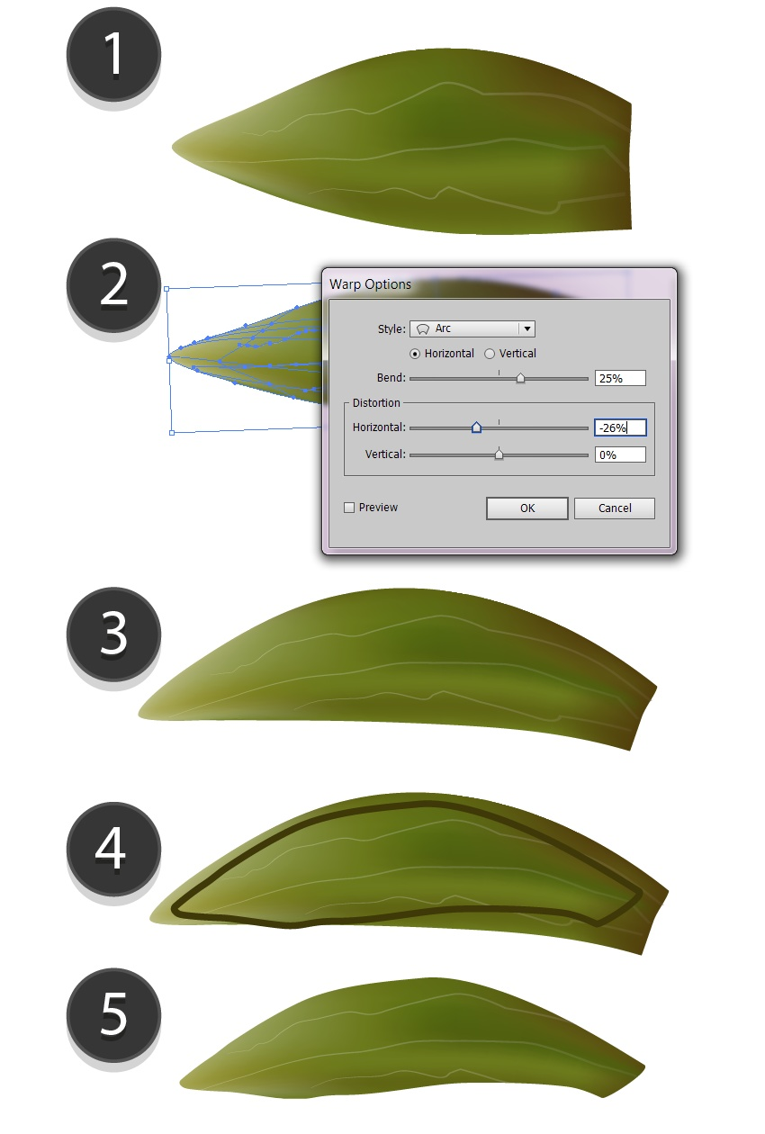 make the leaf smaller