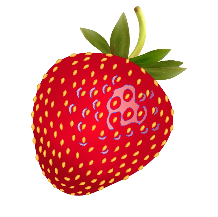 adjust the strawberry highlight