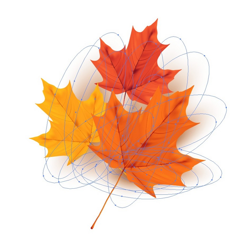 How to Draw Autumn Leaves on Old Paper and a Wooden Background in Adobe Illustrator