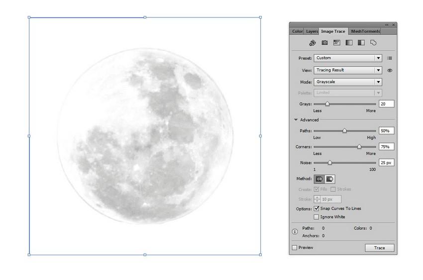 trace moon