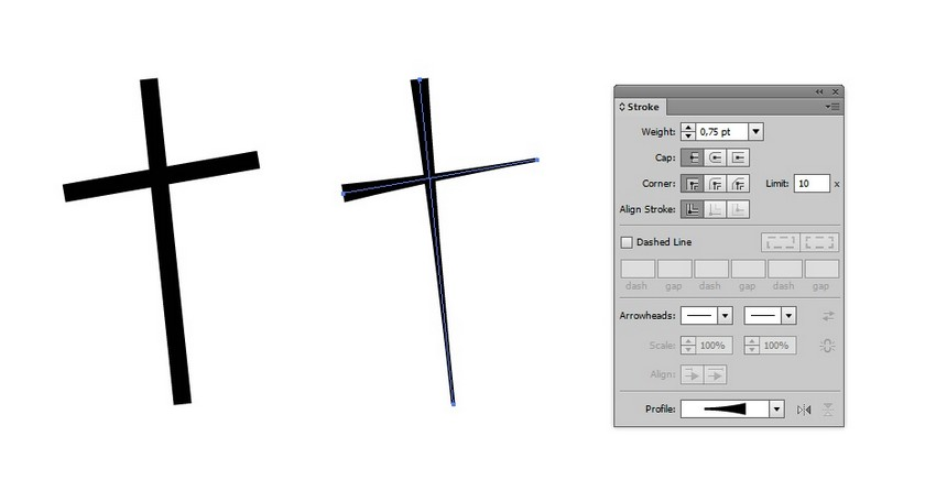 draw cross