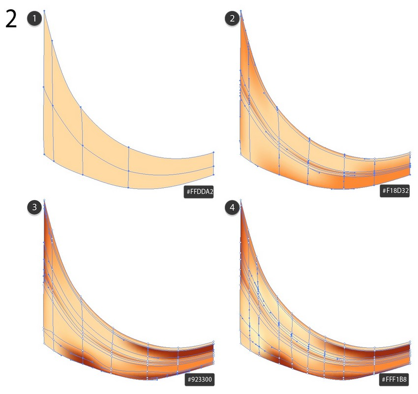 use mesh to draw curve