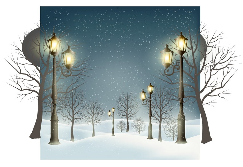 How to Draw a Festive Winter Landscape With Glowing Lamps in Adobe Illustrator