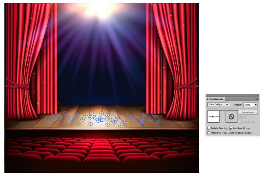 how to draw stage lights