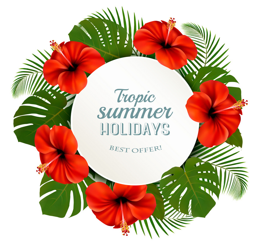 How to Draw a Wreath of Tropical Flowers in Adobe Illustrator
