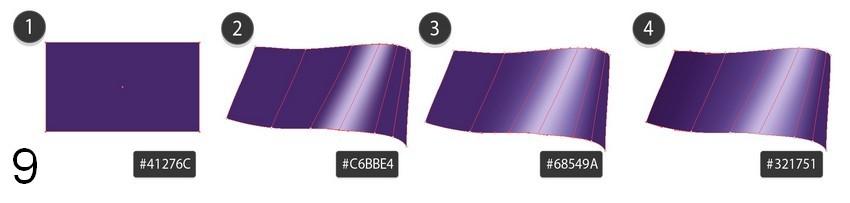 violet mesh bow