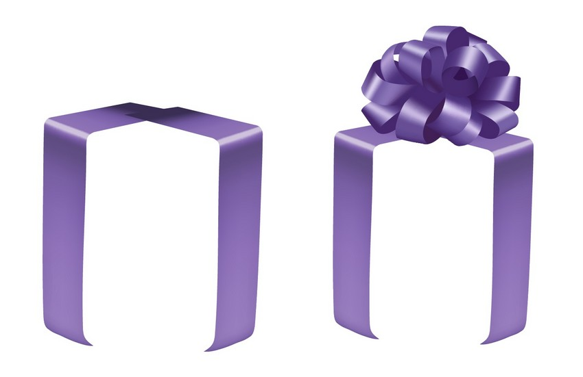place gift bow