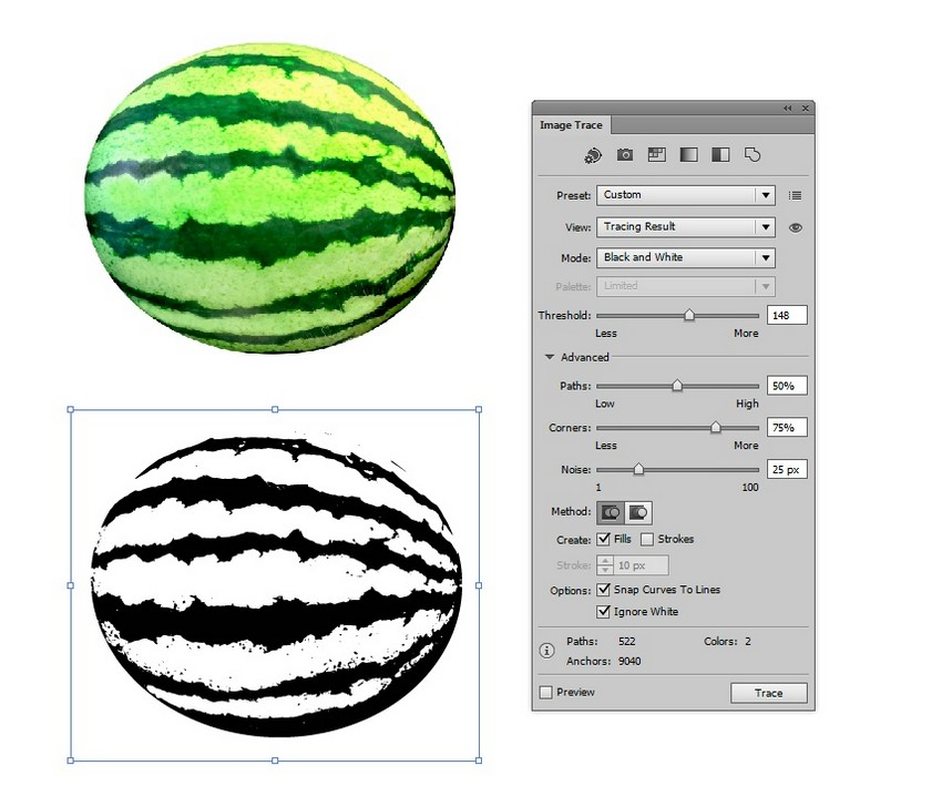 How to Draw a Watermelon and a Glass of Juice in Adobe Illustrator