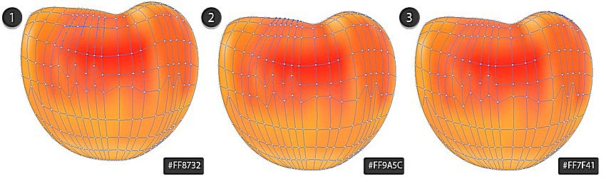 finish peach fruit with mesh