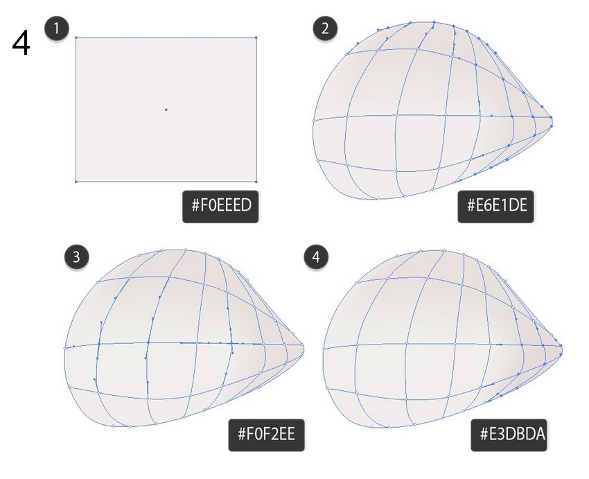 how to draw flower petal vector