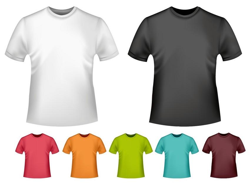 white vector mesh t-shirt mockup template