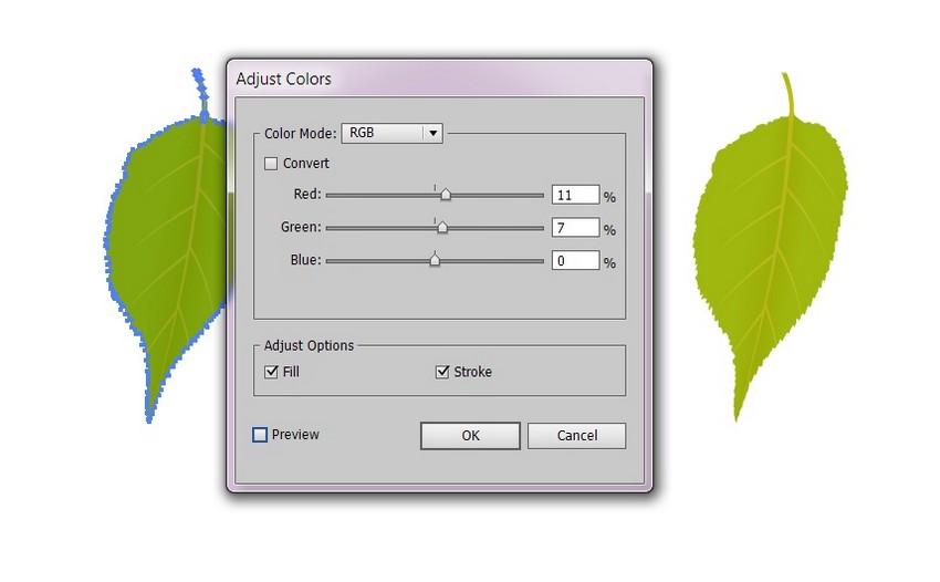recolor leaf