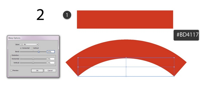 bend with arc