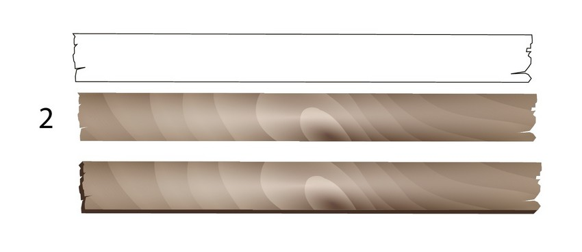 textured vector plank