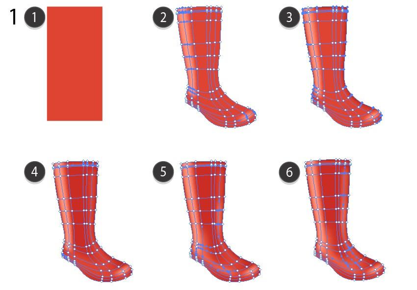 gradient mesh tutorial autumn background rain boots
