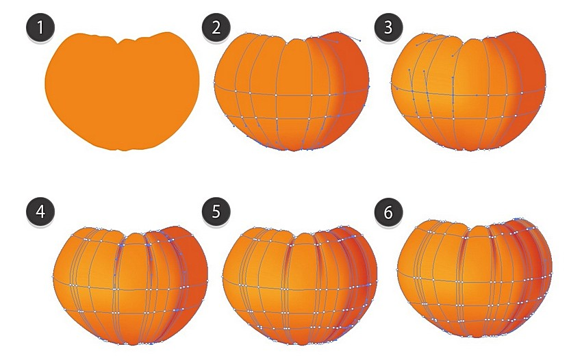 draw pumpkin with mesh