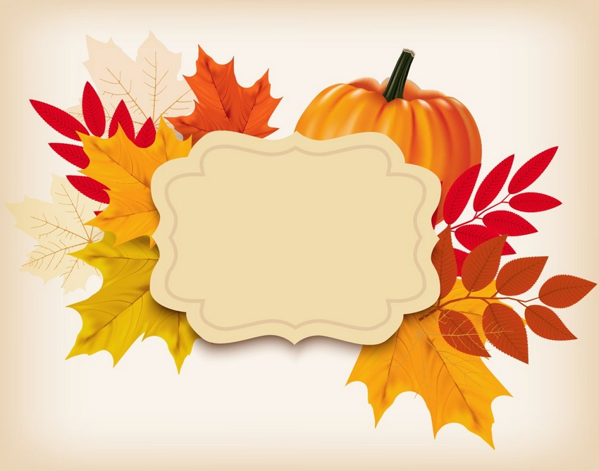 finished thanksgiving background