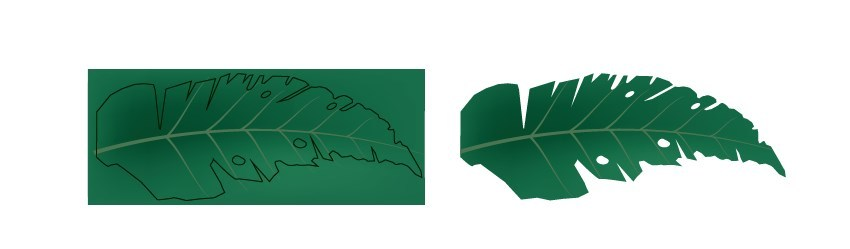 Tropical Party Flyer Design Leaf Vector