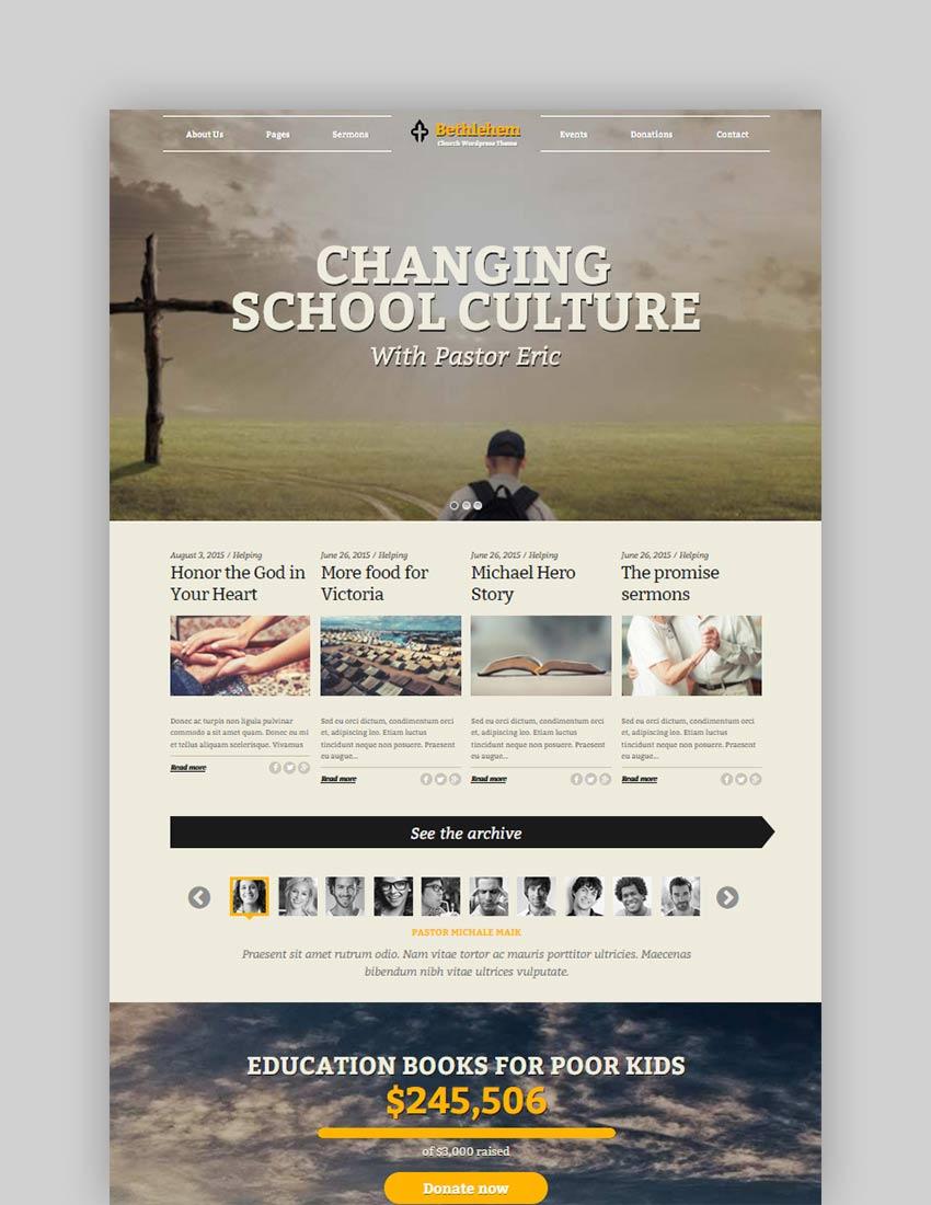 Bethlehem Church WordPress Theme