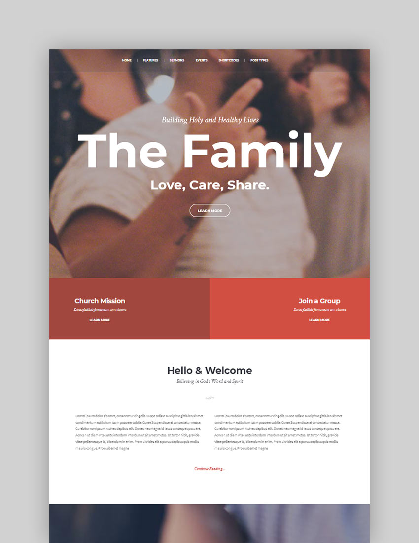 My Religion Dedicated Church WordPress Theme with Events Sermons and Donations