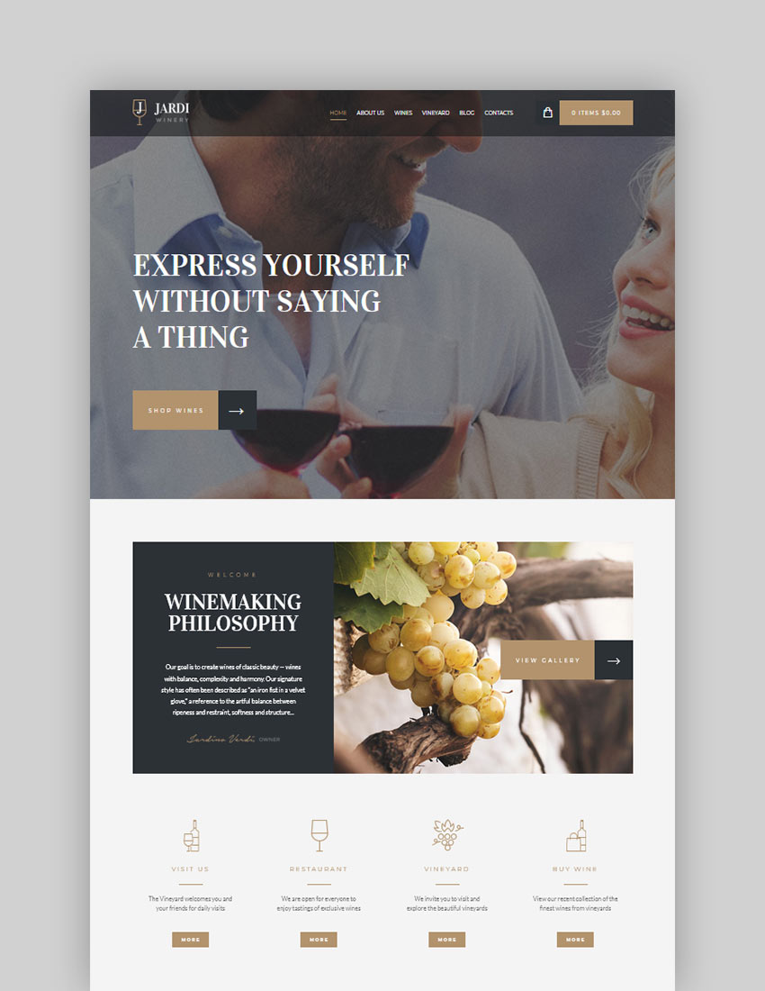 Jardi  Winery Vineyard  Wine Shop WordPress Theme