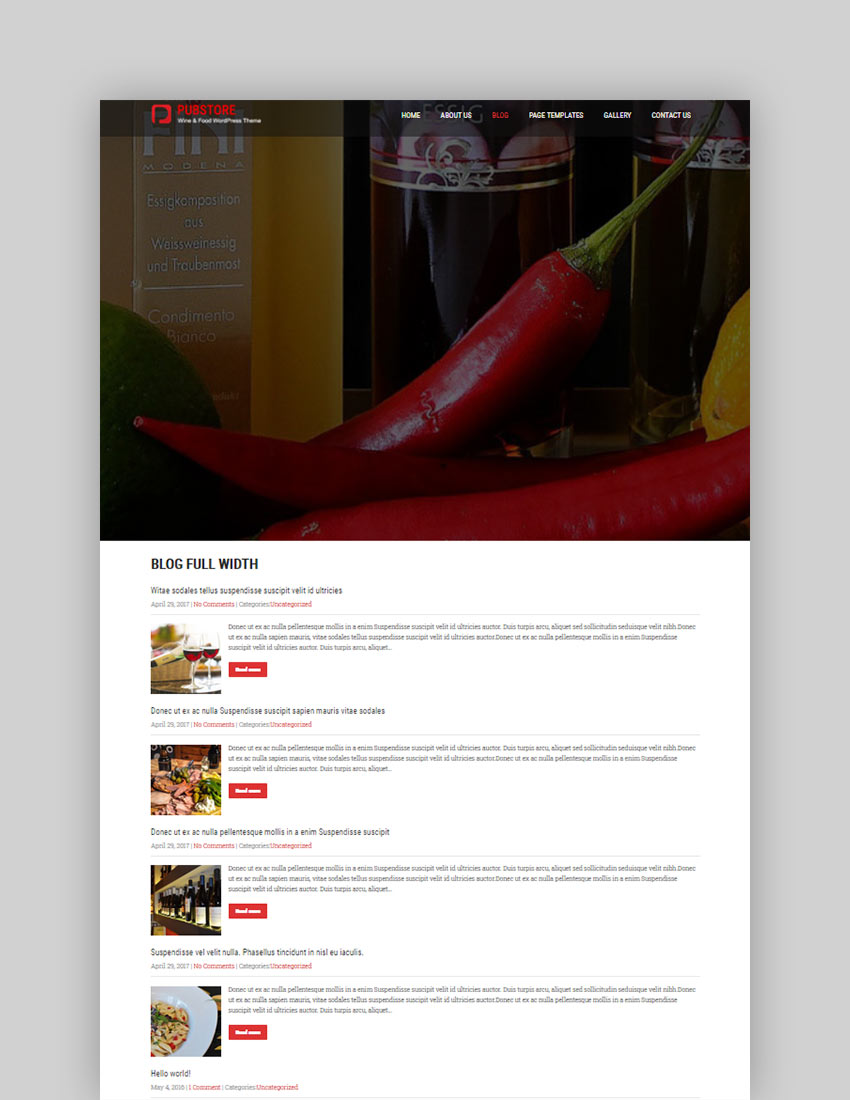 Pub Store Free WordPress Theme