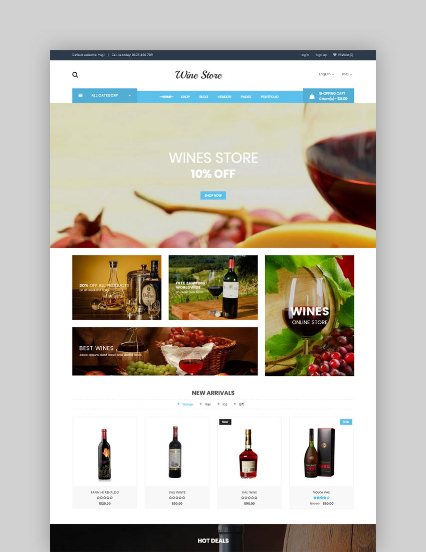 Wibar  Wine  Vineyard WooCommerce WordPress Theme
